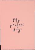 """Дневник """"My perfect day"""" (персиковый)"""